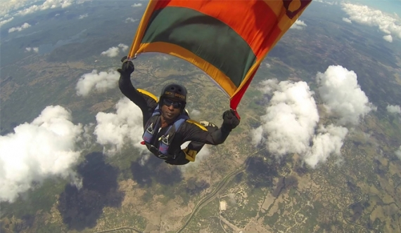 Sky diver injured during Independence Day rehearsals : report