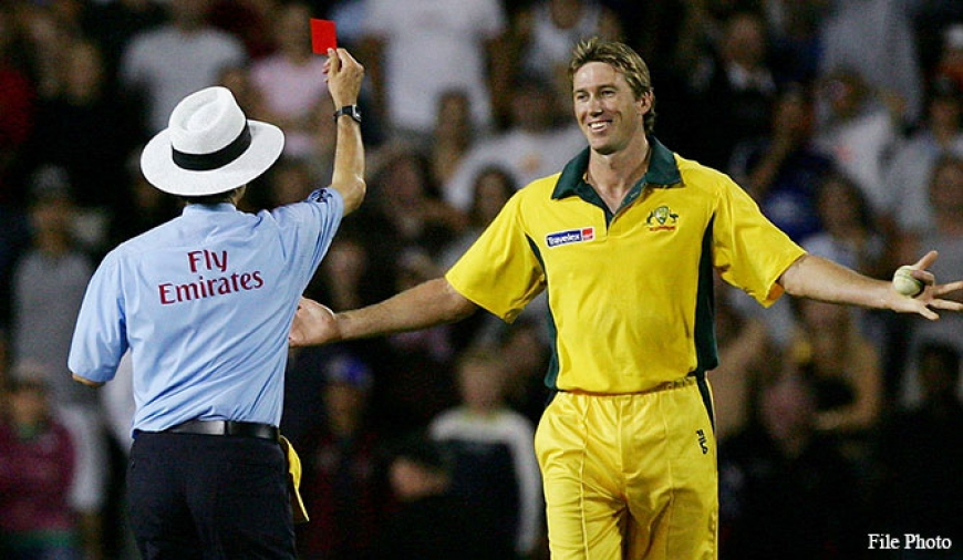 Red cards for cricket?