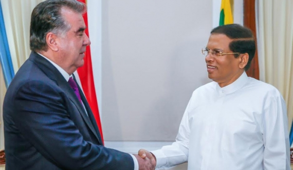 President meets Tajikistan Head of State