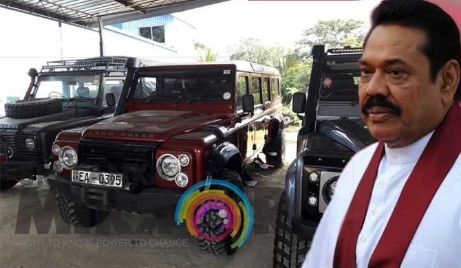 Mahinda's defender convoy to visit 'Kebiliththa' tomorrow