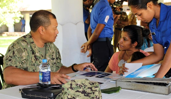 SL Navy - US Navy conduct medical camp in Matara