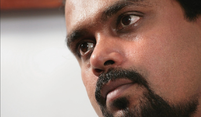 Wimal writes his latest book from remand cell