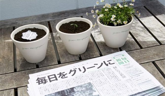 Press is reborn in flowerpots