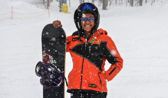 Lankan teen at Winter games surprises all