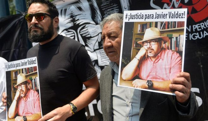 Mexican journos protest over Javier Valdez killing