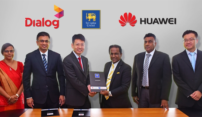 Huawei, official smartphone partner of cricket team
