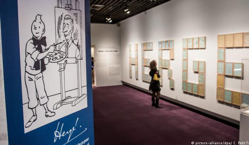 Tintin drawing sells for record €1.55m