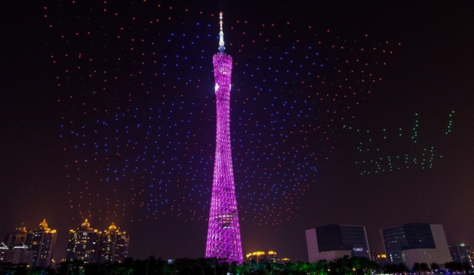 1,000-drone performance dazzles skies (video)