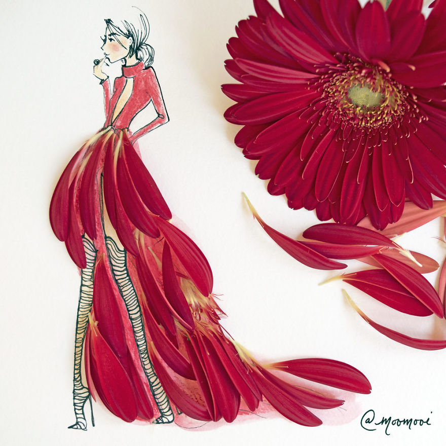 moomooi SomeFlowerGirls Fashion Illustration with Flowers Veggies Everyday Stuff 5892ed11943dc 880