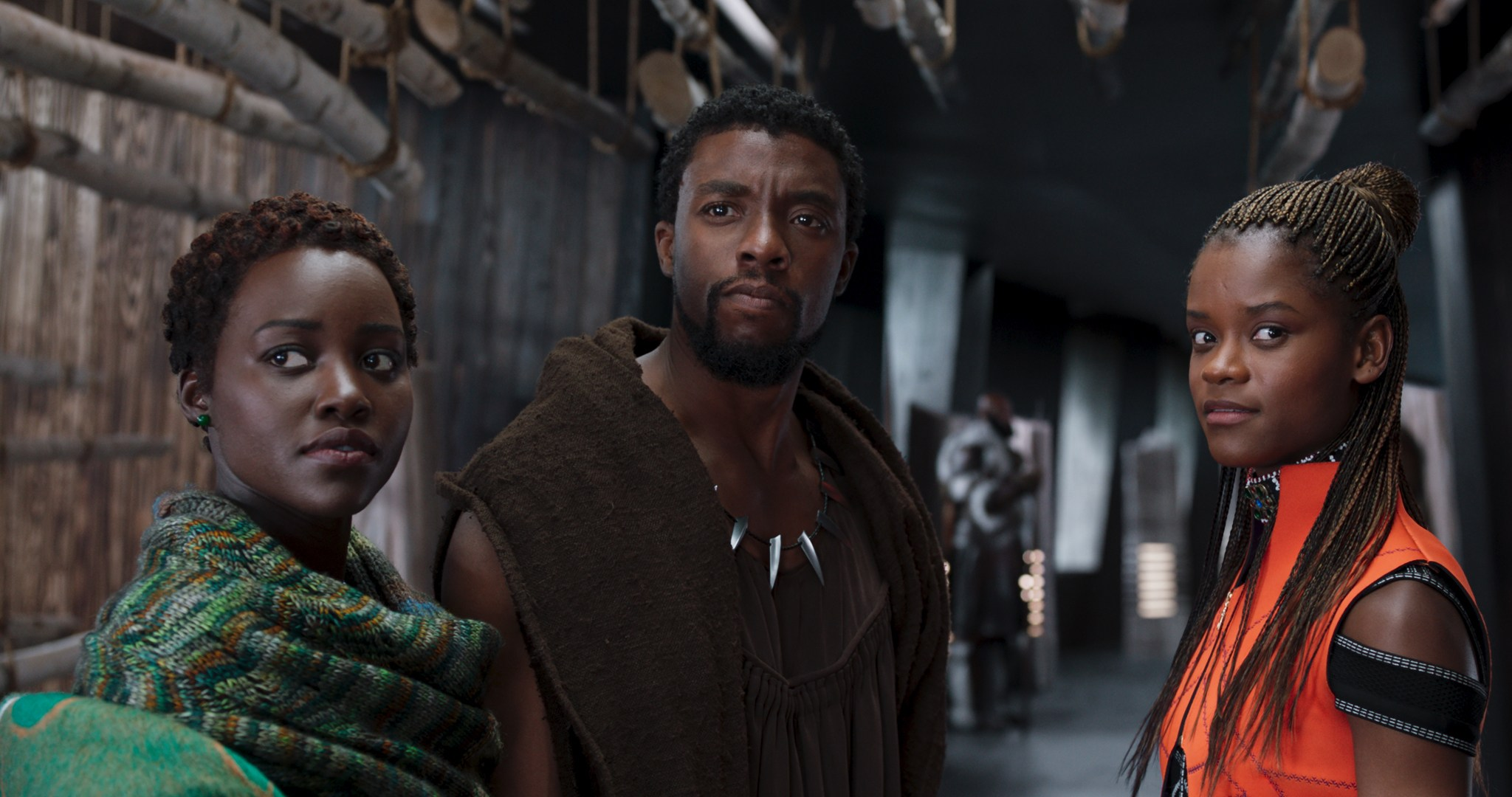 Nakia TChalla and Shuri in Black Panther