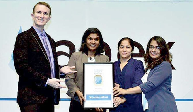 SriLankan wins Future Travel Experience award