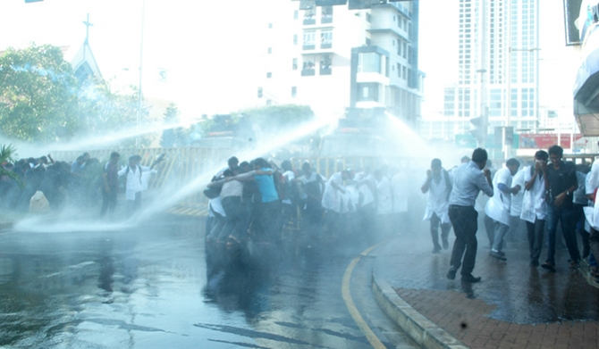 University students tear-gassed