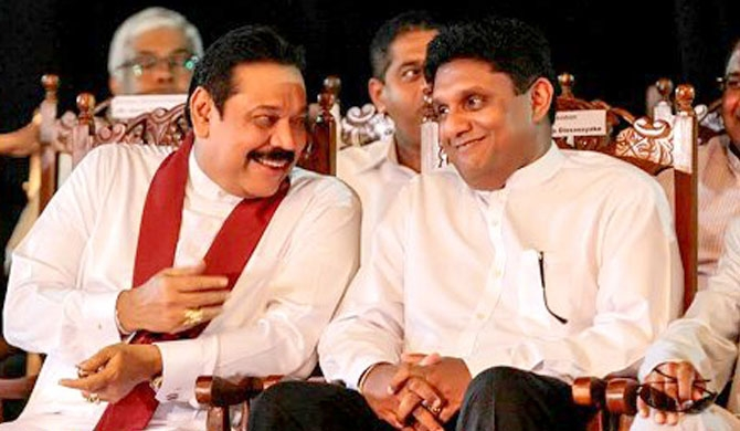 Sajith challenges Mahinda with four questions