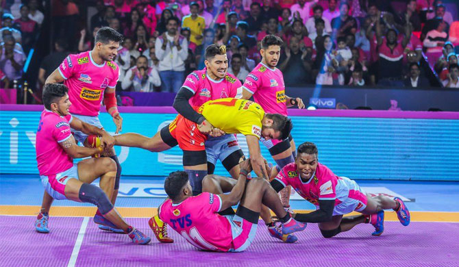 Jaipur Pink Panthers won the inaugural league