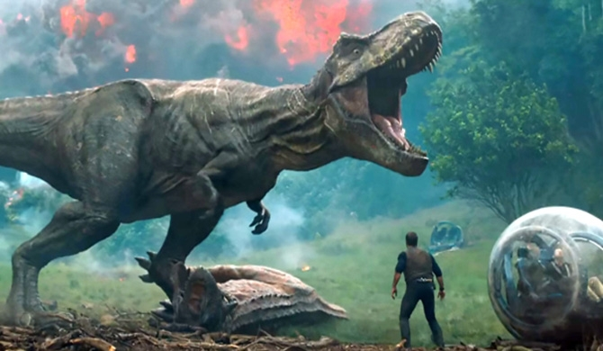 Jurassic world : fallen kingdom trailers unveiled (Video)
