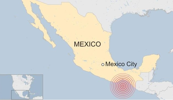 Large earthquake in Mexico