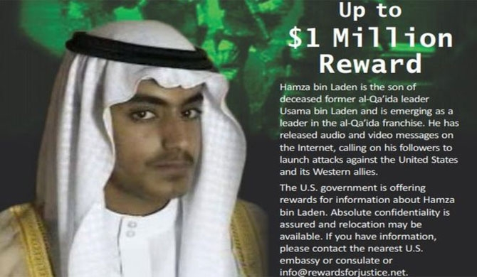 US offers $1m reward for Bin Laden's son