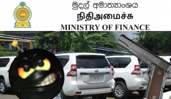 Pistol found in Finance Ministry vehicle