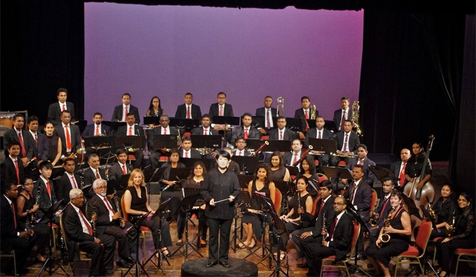 Valentine's Day concert by the Colombo Wind Orchestra