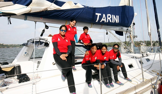 Indian lady-crew to sail around the world (Video)