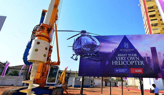 Blue Mountain breaks ground for Colombo's maiden 7-star apartments (Pics)