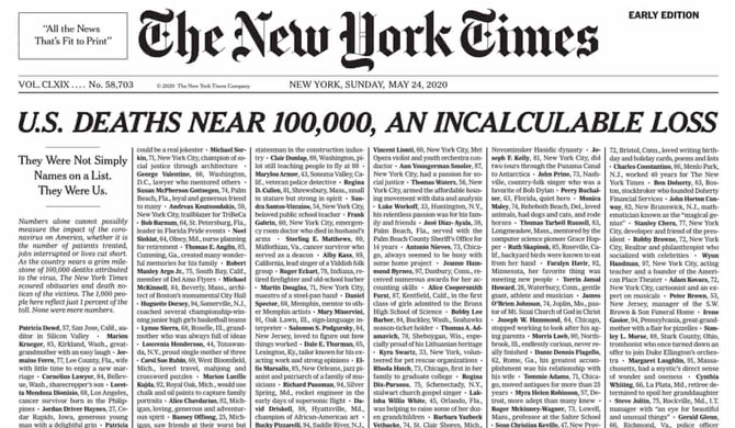 NYT front page goes viral on social media