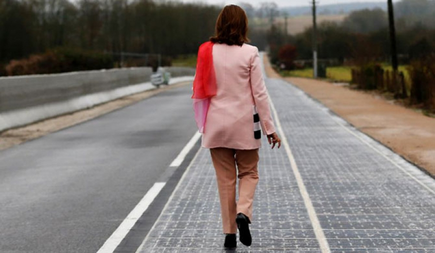 World's first solar road in France