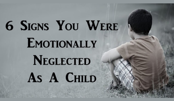 6 signs you were emotionally neglected as a child