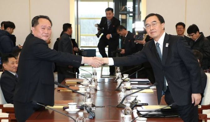North - South Korea begin talks