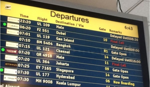 Sri Lankan flights delayed at BIA