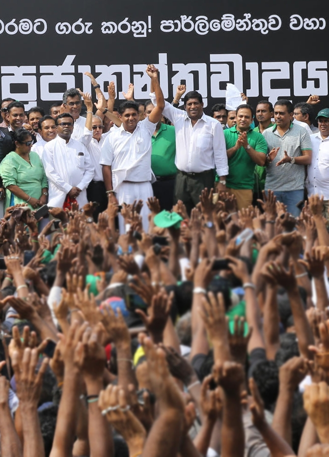 Massive crowds at the UNP rally