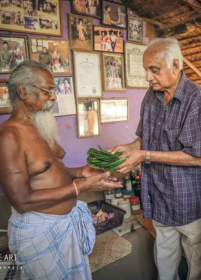 Sathischandra Edirisinghe pays a visit to the Vedda chief (Pics)