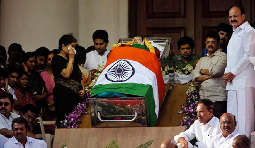 Jayalalithaa buried In Sandalwood casket