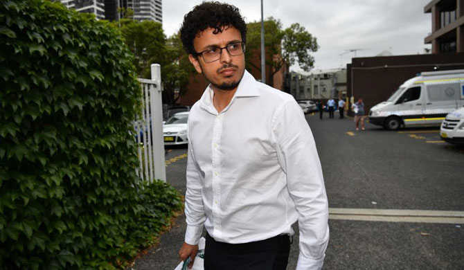 Arsalan Khawaja (pictured) was jealous of Mohamed Nizamdeen's friendship with a woman.(AAP: Brendan Esposito)