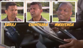Cricket stars drive buses in Melbourne (Video)