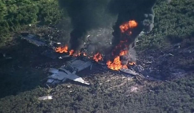 16 die in US military plane crash