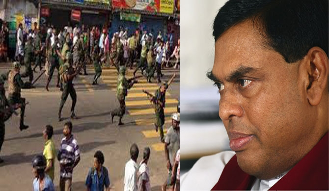 """21 Rathupaswala protestors left with broken legs.  Did that happen in the north too?"" – Basil"