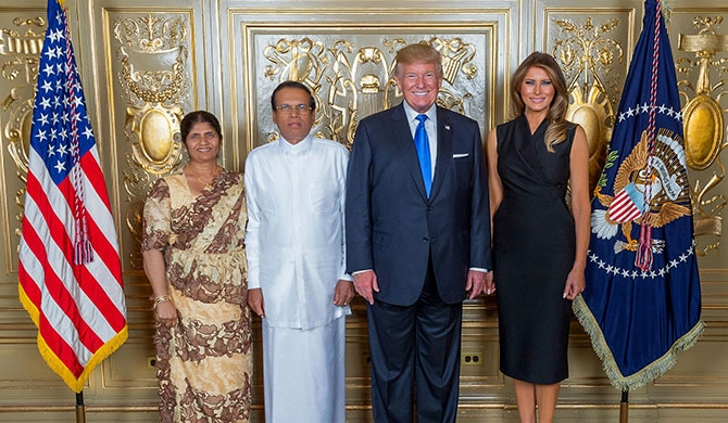 Trump hosts dinner for Maithri