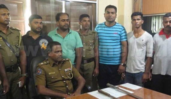 Six sword gang members arrested