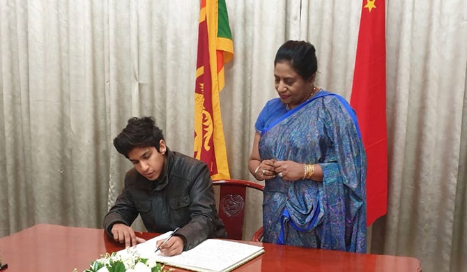 Diplomats in Beijing extend condolences to SL (Pics)