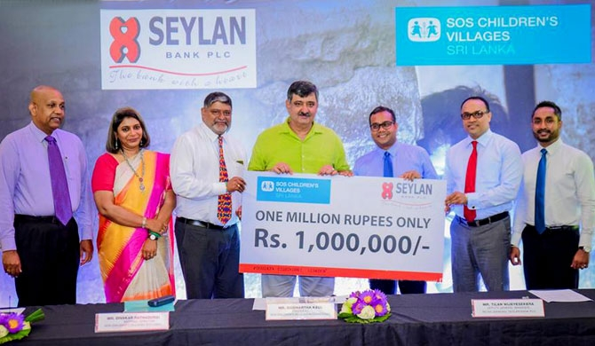 Seylan Bank backs SOS children's villages Sri Lanka