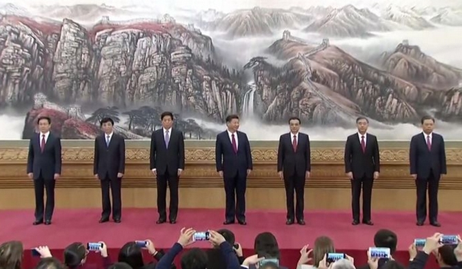 China's new leaders unveiled
