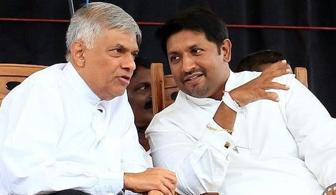 Ranil's focus on giving UNP leadership to Ruwan?
