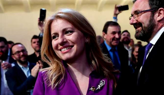Slovakia gets first female president