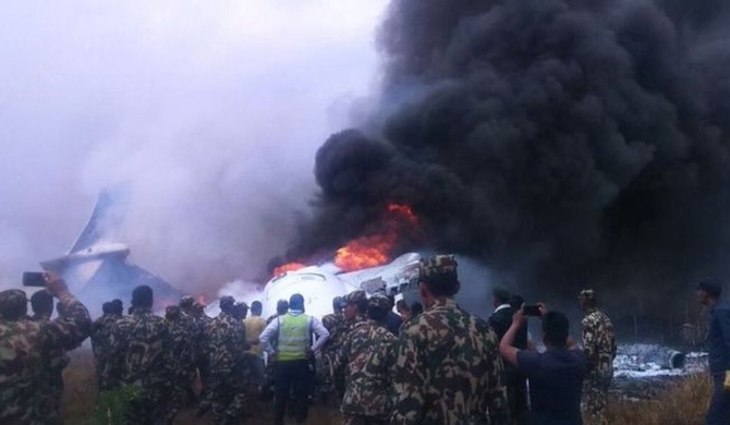 Witnesses describe scenes of chaos as the plane went down
