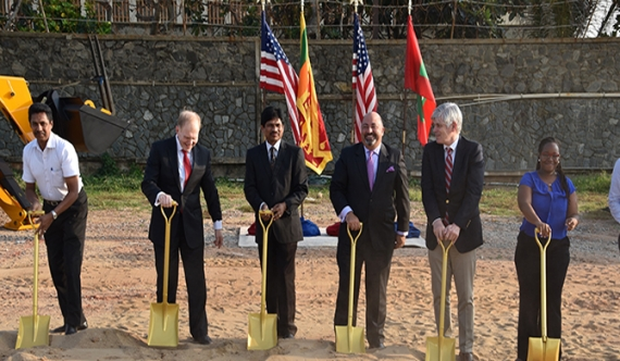 US breaks ground on the new US Embassy in Colombo