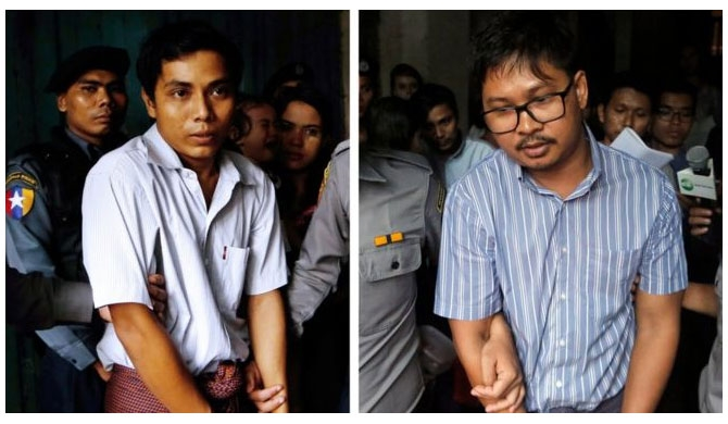Reuters journalists jailed in Myanmar