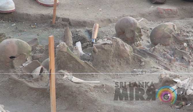 Mannar mass grave skeletal parts to be sent to US