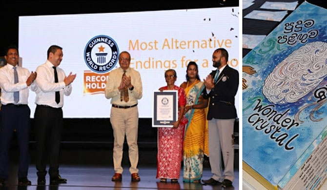 Guinness record for Sybil Wettasinghe's 'Wonder Crystal'