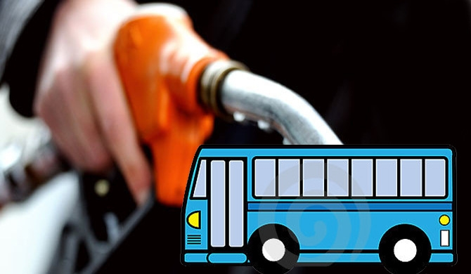 30 pc of buses use kerosene oil as fuel